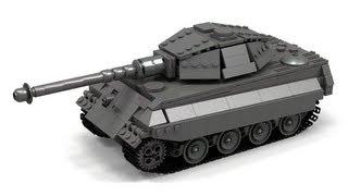 getlinkyoutube.com-Lego WWII King Tiger/Tiger II Instructions