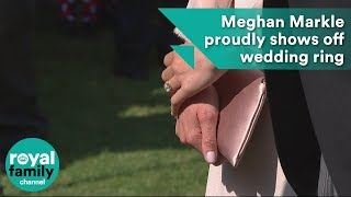 Meghan Markle proudly shows off wedding ring at Prince Charles' birthday event