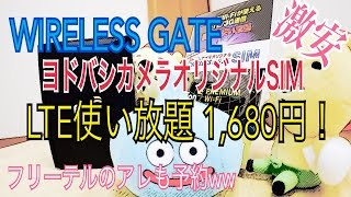 getlinkyoutube.com-月額1680円!LTE使い放題!WIRELESS GATE SIM 【激安】