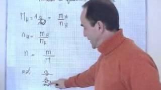 getlinkyoutube.com-cours seconde / ch9: quantité de matière: la mole/ masse et quantité de matière n = m/M