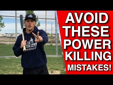 Three POWER KILLING MISTAKES Almost Every Hitter Makes! | Baseball Hitting