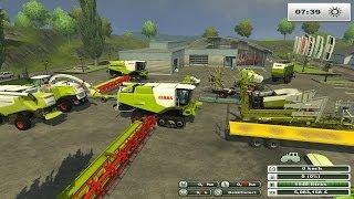 getlinkyoutube.com-farming simulator 2013 claas land pleins de  claas au boulot (présentation des mods claas)