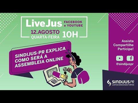 Sindijus-PR explica como será a Assembleia Online