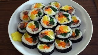 getlinkyoutube.com-How to make gimbap (aka kimbap: 김밥)