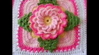 muestra para colcha a crochet video 1