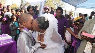 getlinkyoutube.com-متع عقلك مع قصة الحياة الزوجية للطفل الذي تزوج إمرأة عجوز بجنوب أفريقيا ـ غرائب و عجائب الزواج