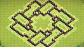 getlinkyoutube.com-Clash of clans - Town hall 7 (TH7) Trophy Base/Defense Base