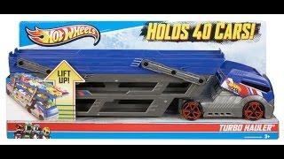 getlinkyoutube.com-Hot Wheels Turbo Hauler Review - 40 Car Rig