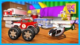 getlinkyoutube.com-Learning Vehicles Names and Sounds for Kids Part 2 | Trucks, Helicopter and More