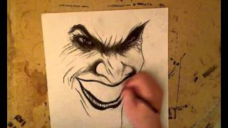 getlinkyoutube.com-Arkham Asylum Joker Drawing
