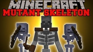 getlinkyoutube.com-Minecraft: MUTANT SKELETON MOD (MASSIVE SKELETON WITH EPIC ABILITIES!) Mutant Skeleton Mod Showcase