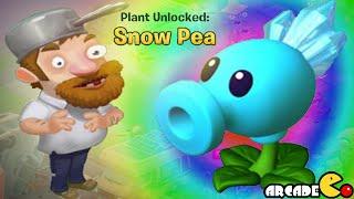 getlinkyoutube.com-Plants vs Zombies Adventure - New Plants Unlocked Snow Pea Shooter