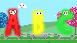 getlinkyoutube.com-Alphabet Train: learn a - z, abc letter and alphabet train for children (Songs for Children)