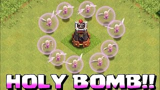 getlinkyoutube.com-Clash Of Clans - HOLY BOMB TOWER TROLL!! (Healers w/ Gobs and the bomb tower)