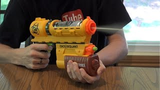 getlinkyoutube.com-Nerf Zombie Strike BioSquad ZR-100 Eraser Unboxing and Review