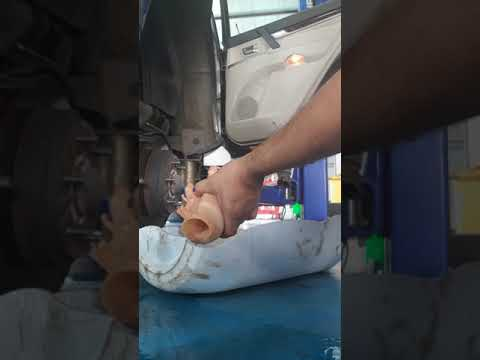 Replace fuel filter pajero 6g75 engine