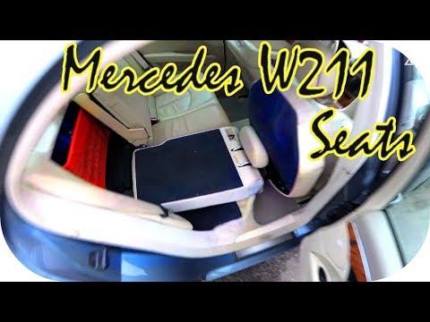 Mercedes w211 Как разложить сиденья / AEYTV