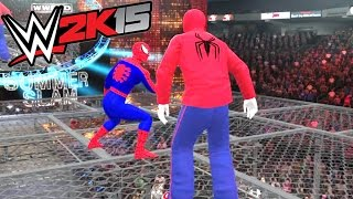 WWE 2K15 - THE AMAZING SPIDER-MAN VS SPIDER-MAN OLD - HELL IN A CELL MATCH