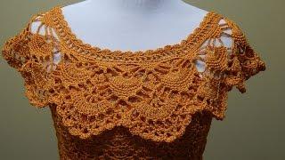 getlinkyoutube.com-Blusa Tejida para Verano Crochet parte 2 de 2