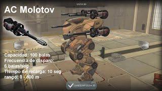 getlinkyoutube.com-Walking War Robots   AC Molot Características   Armas Ligeras