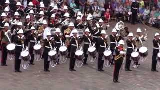 getlinkyoutube.com-The Royal Marines School of Music - Beating Retreat - 8th August 2014