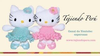 getlinkyoutube.com-Hello Kitty tejida a crochet (amigurumi)  Parte 1: cabeza