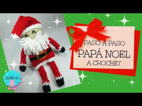 Papá Noel a crochet/ principiantes
