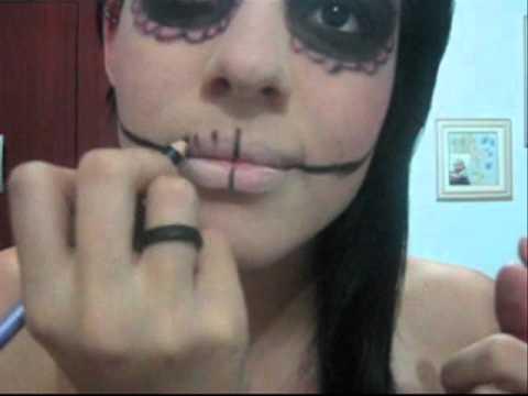 makeup caveira mexicana - Halloween.