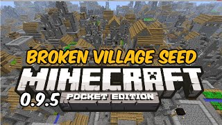 getlinkyoutube.com-INSANE BROKEN VILLAGE SEED! - Minecraft Pocket Edition Seed Review