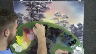getlinkyoutube.com-Paint with Kevin Hill - Snowy Sunset Lake