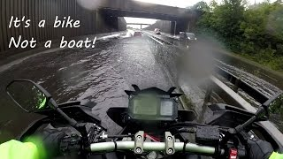 getlinkyoutube.com-Yamaha MT-09 Tracer FJ-09 Riding in Deep Water