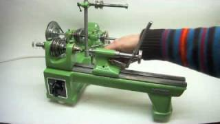 getlinkyoutube.com-Lorch KD 50 Lathe, Drehbank in Aktion
