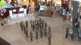 "getlinkyoutube.com-Flash mob - 4th Infantry Division ""Gemina"" Military Band"