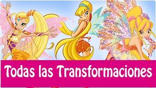 getlinkyoutube.com-Winx Club - Todas Las Transformaciónes de Stella! Español Latino