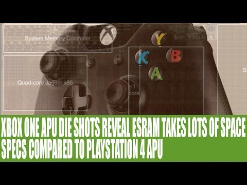 Xbox One APU & Die Size - ESRAM Eats Lots of Die Space & Analysis Vs Playstation 4 Specs