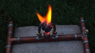 "getlinkyoutube.com-""The Acosta"" - Copper Coil Alcohol Stove - Flame Test 1"
