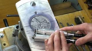 """getlinkyoutube.com-Steve Adams Coin Engraving Carving - Part Two """"Hobo Nickel"""""""