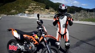 getlinkyoutube.com-Wheelie Tutorial KTM 690 Super motard WINSTON WHEELINGTON