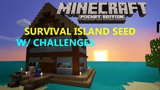 getlinkyoutube.com-MCPE 0.15.0 -  COOL SURVIVAL ISLAND SEED WITH CHALLENGES !