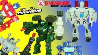 getlinkyoutube.com-Transformers Bulkhead and Jetfire Hero Mashers Megatron Tricks to Join Deceptons Help Optimus