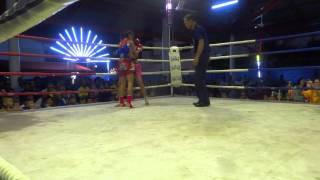getlinkyoutube.com-Phetjee Jaa O. Meekhun (34 kg) vs Nongbrai Gogiathuawaa (39 kg)