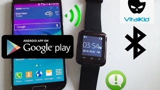 getlinkyoutube.com-How to set up U8 SmartWatch + Install BTNotifications Easy