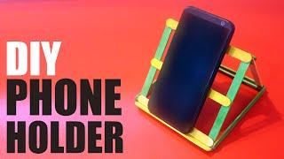 getlinkyoutube.com-DIY Phone holder for desk