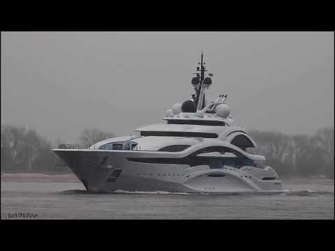 Click to view video Mega Yacht JUPITER - IMO 9772929 - Germany - Weser - Brake Unterweser