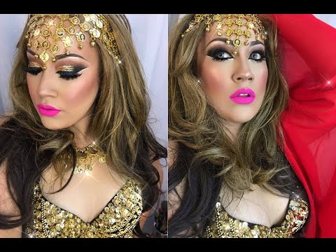 Gypsie/ Belly Dancer Gold Smokey Eye Makeup Tutorial