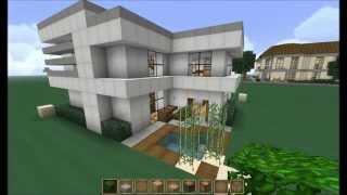 getlinkyoutube.com-Minecraft - Let's Build - 16x16 Modern House