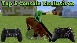 getlinkyoutube.com-Minecraft Xbox + PS3 + PS4 - Top 5 Exclusives (Console vs PC)