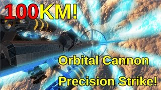 getlinkyoutube.com-100KM! Orbital Cannon Strike | Space Engineers
