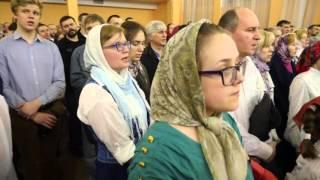 getlinkyoutube.com-Пасха и хор в церкви Тихвинской иконы Божией Матери на пр. Науки