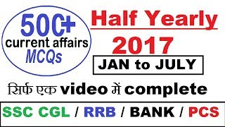 Current Affairs Last 6 Months for SSC CGL / IBPS RRB / PCS / UPSC